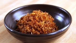 Stirfried Dried Anchovy Side Dishes (myulchi Bokkeum:멸치볶음)