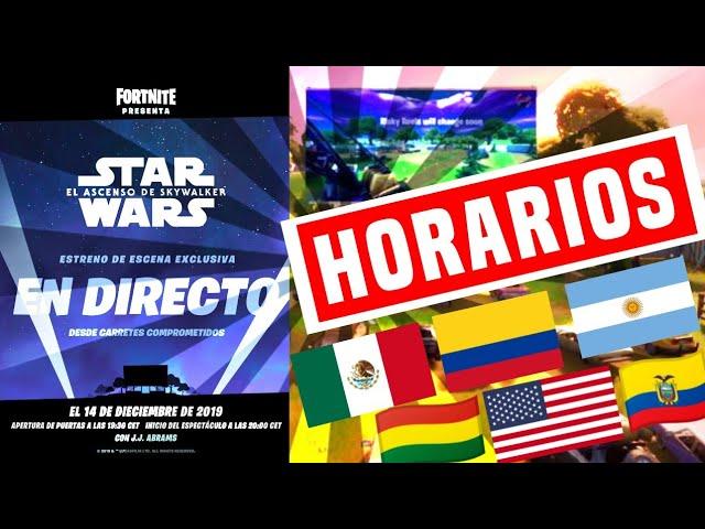 Horarios A Que Hora Es El Evento De Star Wars En Carretes Comprometidos En Tu País Youtube