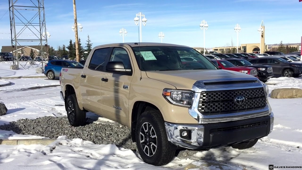 2018 Toyota Tundra Crew Max Trd Off Road In Quicksand