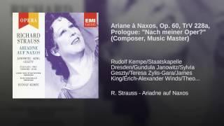 Ariadne auf Naxos (1992 Remastered Version) , Prologue: Nach meiner Oper? (Komponist/Musiklehrer)