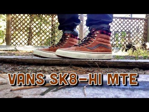 vans sk8 hi mte on feet