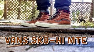 "Vans Sk8-Hi MTE ""Glazed Ginger"" ON FEET"