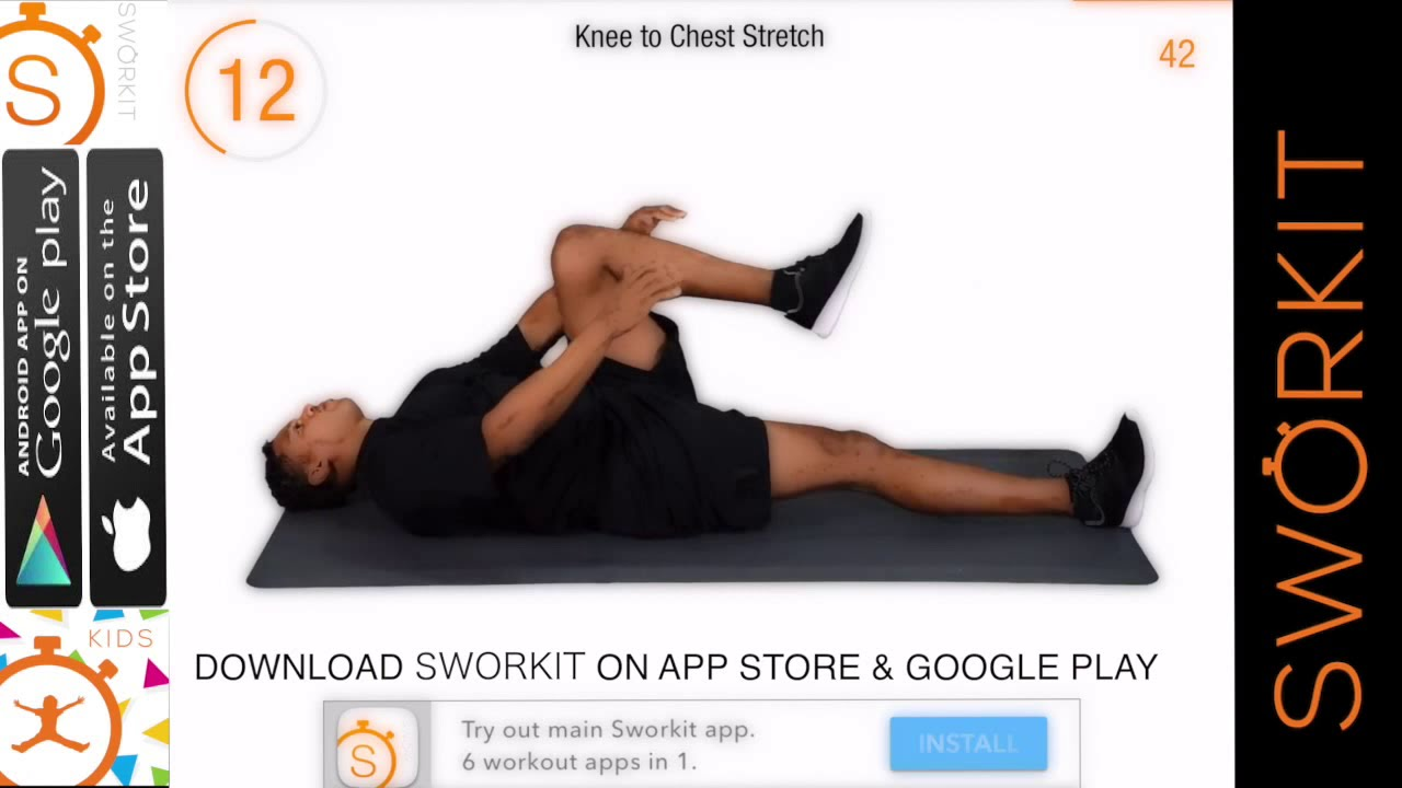 SWORKIT STRETCHES DEMO - #1 FREE STRETCHING APP