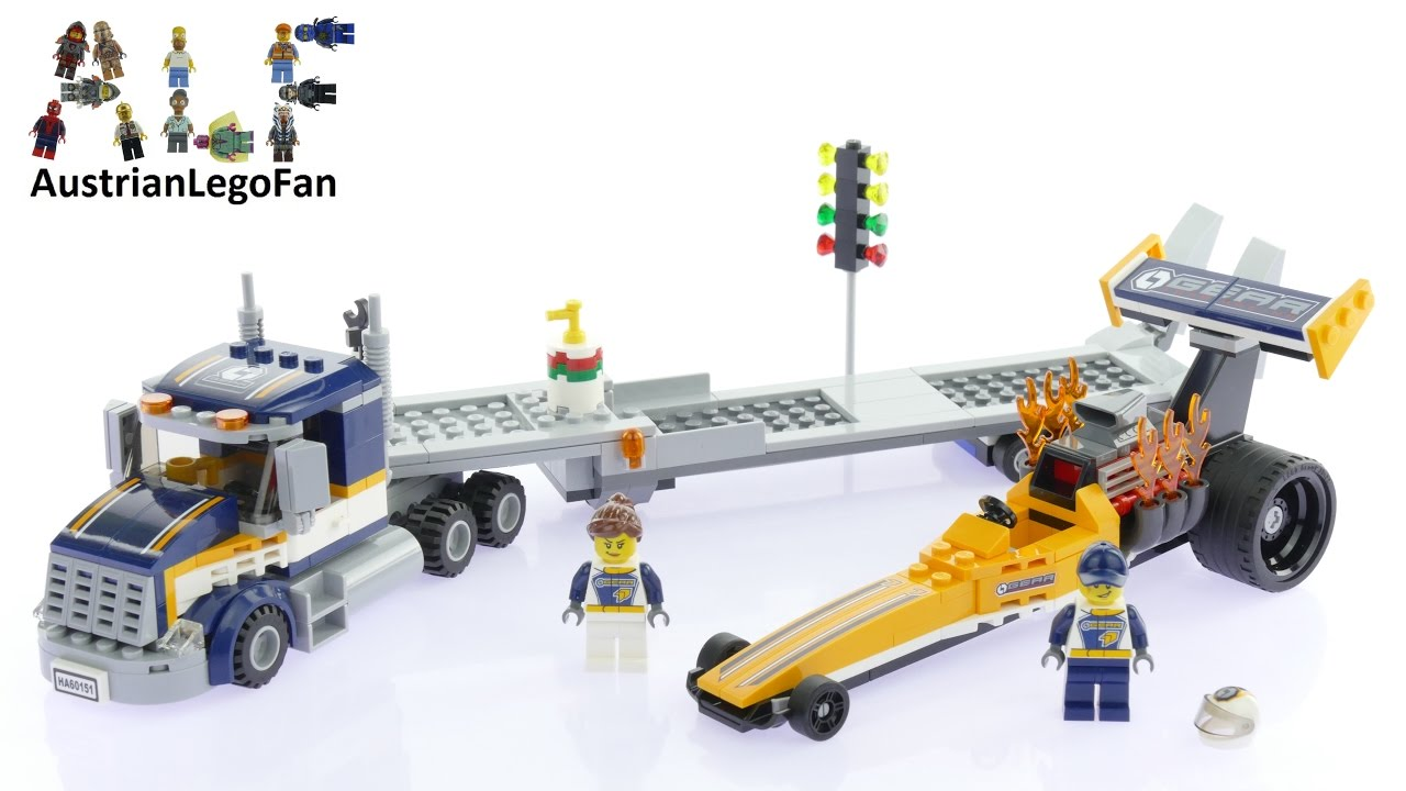 lego city 60151 dragster transporter lego speed build review youtube. Black Bedroom Furniture Sets. Home Design Ideas