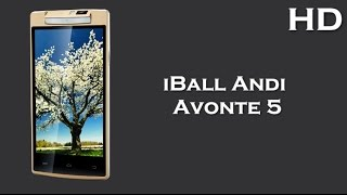 iball andi avonte 5 with 1 3ghz quad core processor 1gb ram android 4 4