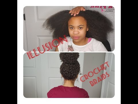 illusion/-knotless-crochet-braids|-very-detailed|-no-leave-out-|2019-1st-try-#crochetbraids