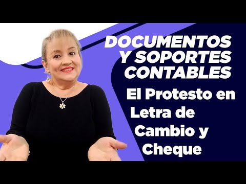 314. El Protesto en Letra de Cambio y Cheque