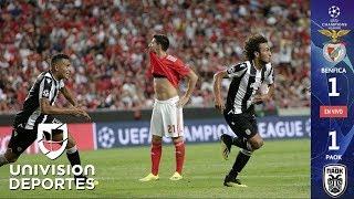 Benfica 1-1 PAOK Salonika - RESUMEN Y GOLES – Playoffs UEFA Champions League