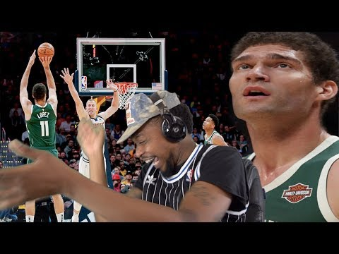 BROOK KOBE LOPEZ EVERYBODY! BUCKS vs NUGGETS HIGHLIGHTS