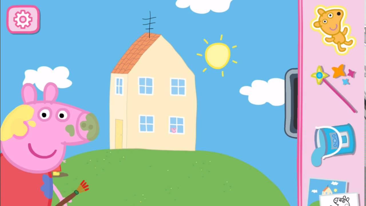 Peppa pig en casa con sus amigos George Papa Pig y Mama Pig en Espaol  YouTube