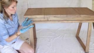 Creating a White-Washed Weathered Oak Finish