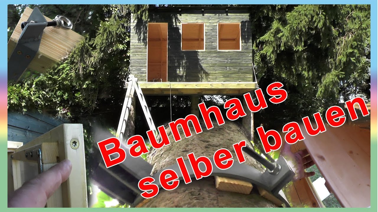 baumhaus selber bauen youtube. Black Bedroom Furniture Sets. Home Design Ideas