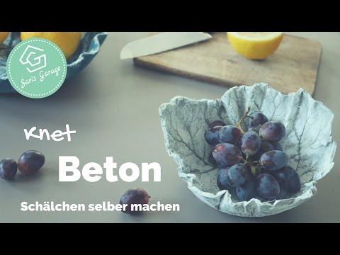Knetbeton Diy Schälchen Aus Kreativ Beton Deko Ideen Anleitung