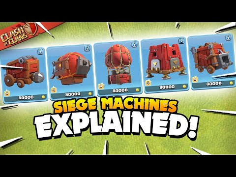 All 5 Siege Machines Explained - Basic to Advanced Guide (Clash of Clans)