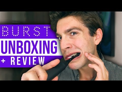 BURST Sonic Toothbrush UNBOXING + Review  david prater