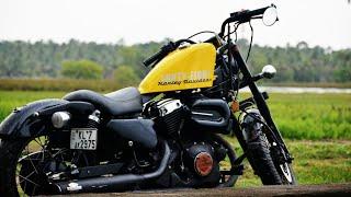 modified harley ||homemade bikes ||ചുരുങ്ങി ചിലവിൽ വണ്ടിയിൽ വരുത്തുന്ന മാറ്റങ്ങൾ