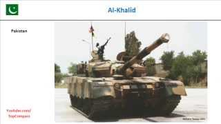 Sabra (tank) & Al-Khalid, Main Battle Tank performance  comparison