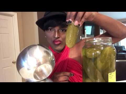 Pickle eating with Lynn Spirit