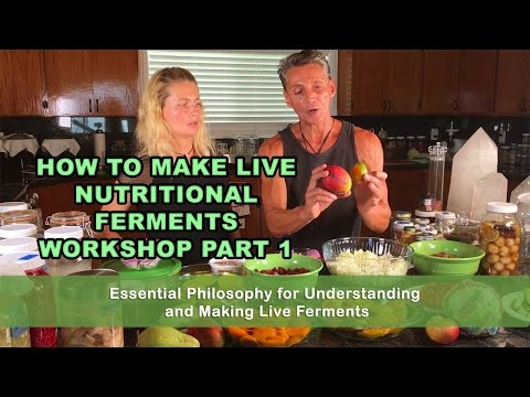 How To Make Live Nutritional Ferments Part 1 | Lecture | Dr. Robert Cassar