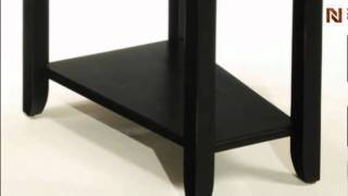 Chairside Table (antique Black) T00284-22 By Hammary Furniture