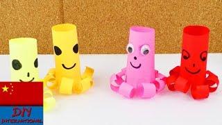 DIY 手工 制作 超级 简单 可爱 彩色 装饰 折纸 纸艺 日本 章鱼 章鱼烧 自制 展示