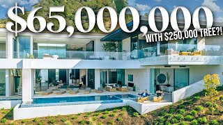 INSIDE a $65,000,000 BEVERLY HILLS MANSION with a $250k TREE!!
