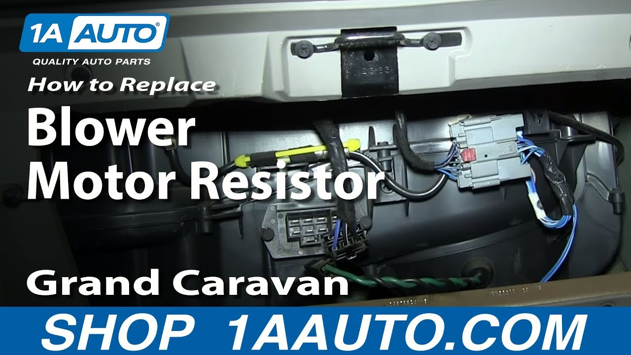 hight resolution of how to replace blower motor resistor 01 03 dodge grand caravan