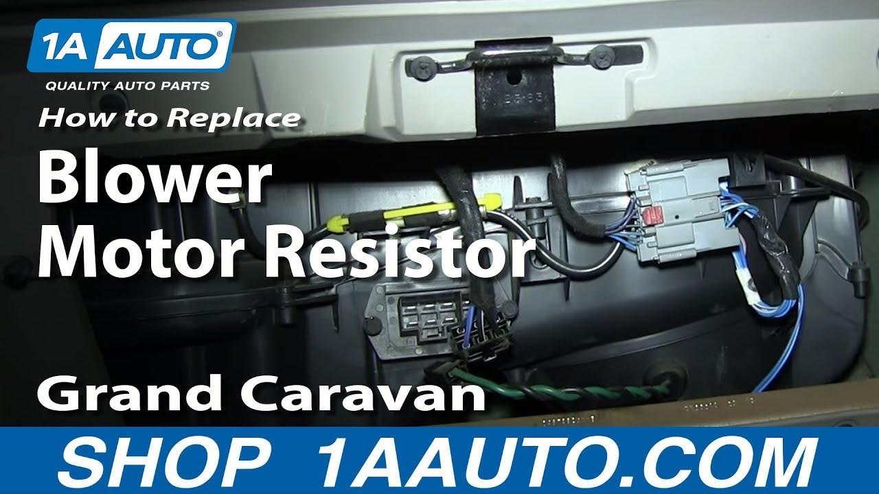 2001 Dodge Caravan Sport Fuse Box Location How To Install Diagnose Ac Heater Fan Speed Resistor 2001