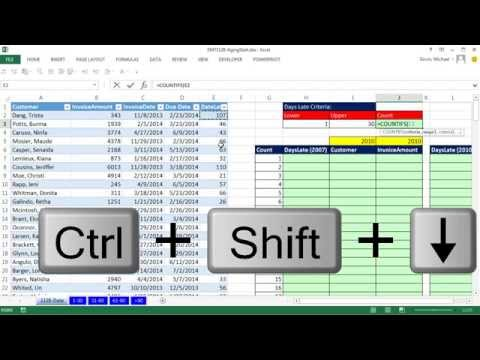 Excel Magic Trick 1128: Aging Accounts Receivable Reports On