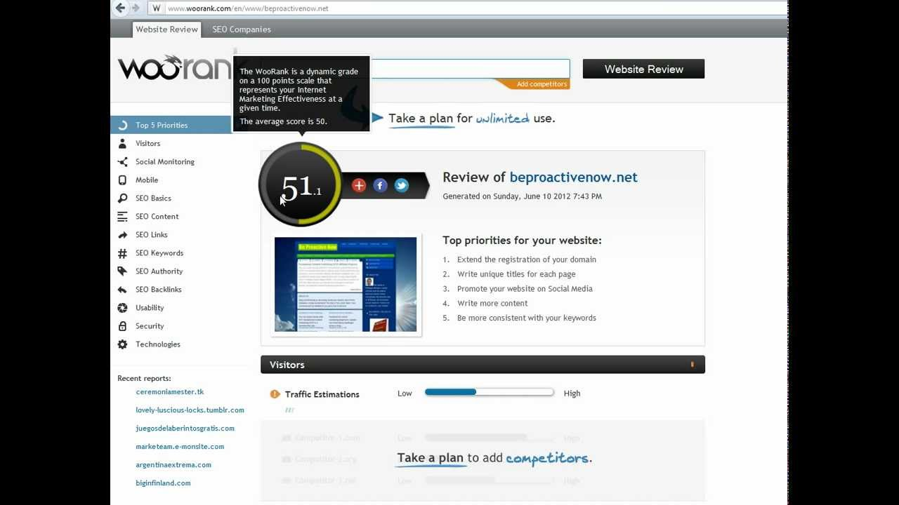 Improve Your Website With Woorank Free Reports