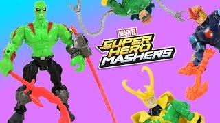 Marvel Super Hero Mashers Drax & Nova + Guardians of the Galaxy Help Thor!