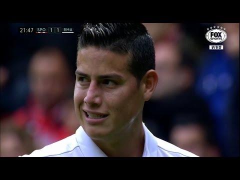 James Rodriguez vs Sporting Gijón HD 720p (15/04/2017) by V10 Comps