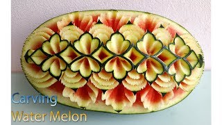 Watermelon new design | carving fruits | By BÀN TAY ĐEN #carving #watermelon