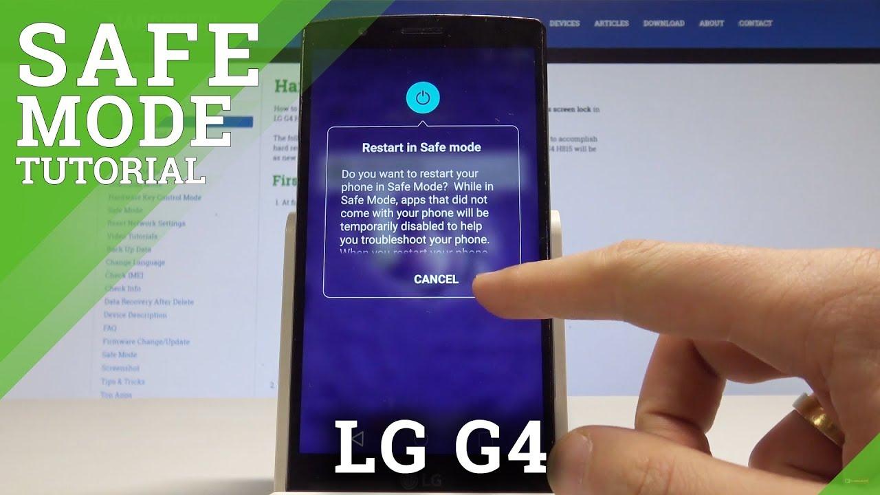 Safe Mode LG G4 H818P - HardReset info