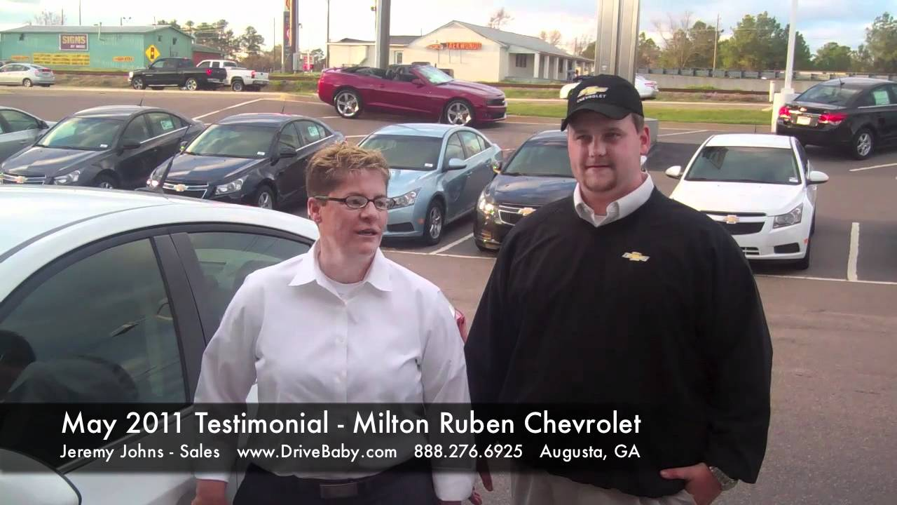 May 2011 Testimonial For Milton Ruben Chevrolet In Augusta, GA