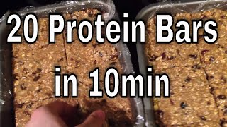 Homemade Oatmeal Protein Bars
