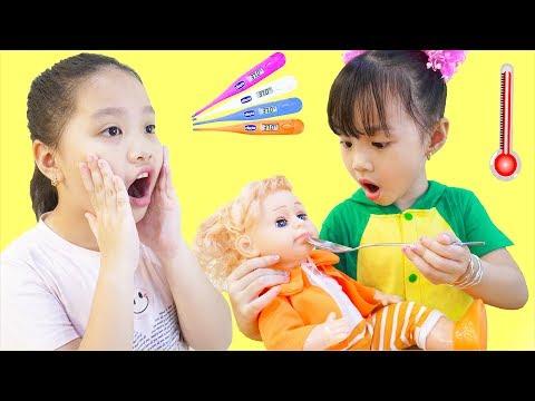Sick Song Nursery Rhymes Baby Dolls Songs 病気の歌 Mimi And Miu.