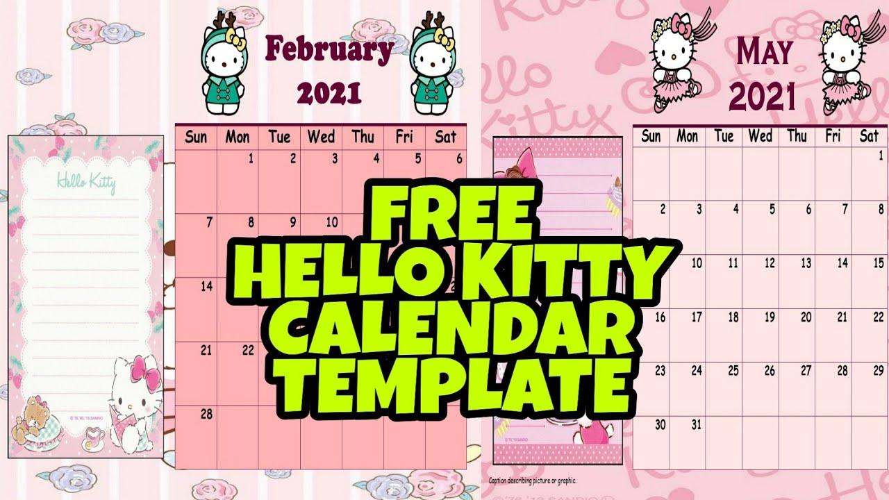 How To Make Hello Kitty Calendar Planner Using Ms Publisher Easy Tutorial Free Template Youtube Sudah dilengkapi dengan hari libur nasional dan cuti bersama. how to make hello kitty calendar planner using ms publisher easy tutorial free template