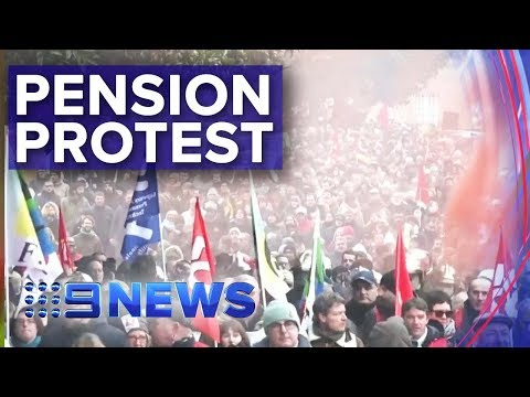 Protesters clash with