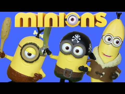 MINIONS MOVIE BUILD A MINION KEVIN BOB STEWART PIRATE BANANA SCARLET OVERKILL SECUACES