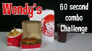 Wendy's 60 second combo Challenge