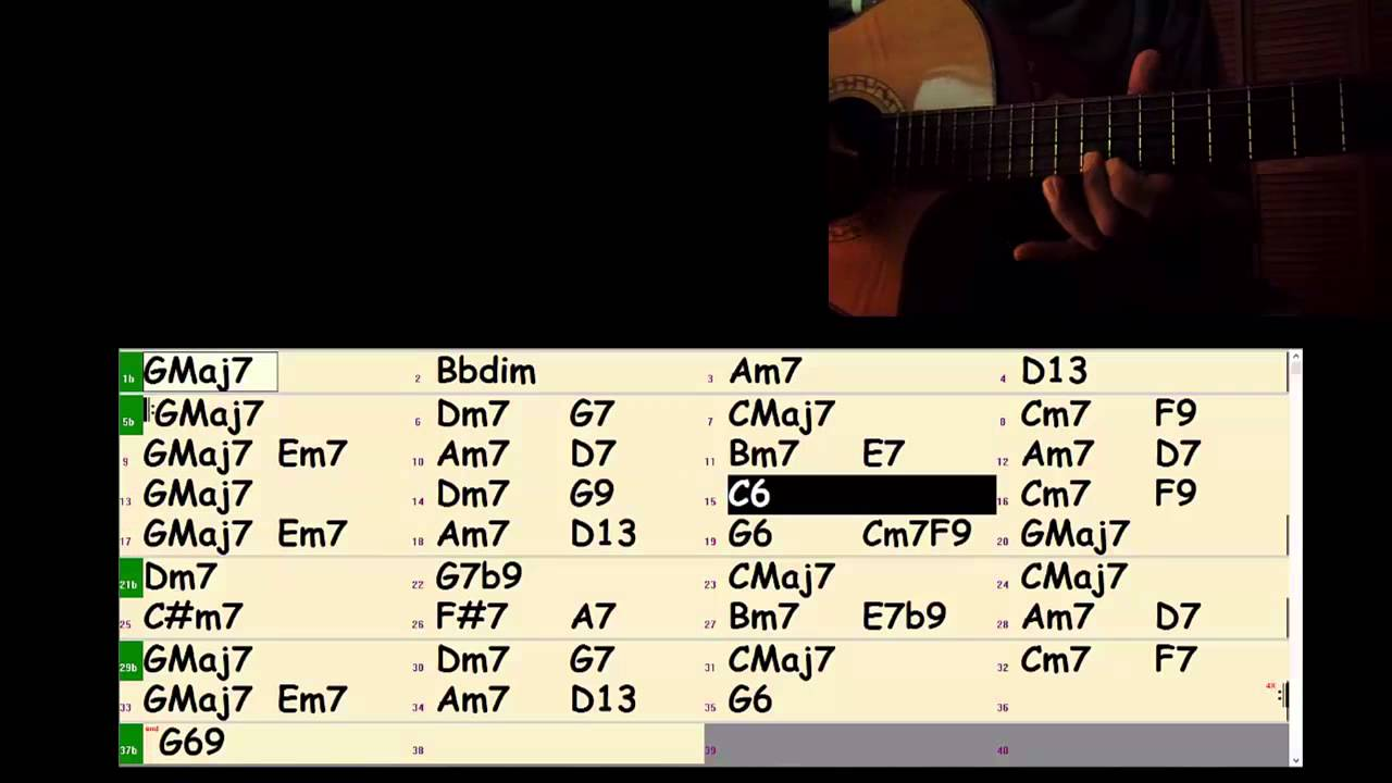 Misty In G With Chords Youtube