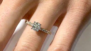 1 Carat Round Diamond Engagement Ring in Rose Gold