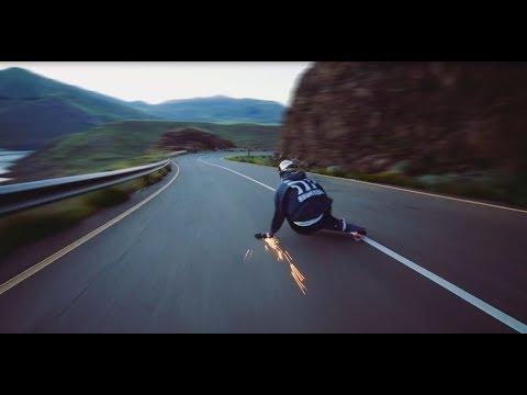 epic downhill longboarding on