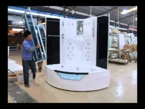 Eagle Bath Installation Video Ws 703 Steam Shower Enclosure W Whirlpool Bathtub Combo Unit