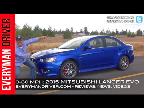 0 60 mph test 2015 mitsubishi lancer evo mr on everyman driver