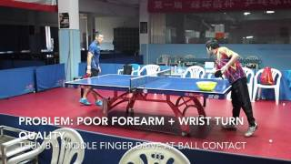 Forehand Flip Multiball Drill Instructional