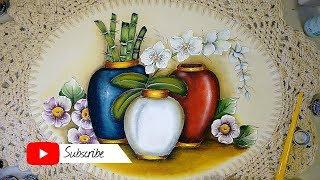 Aprenda a Pintar Vaso Orquídea e Acabamentos – Parte Final