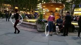 Cumbia Dance Music Party @ Bryant Park NYC pART.8 Hula Hoopin Light