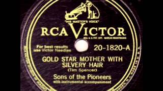Gold Star Mother With Silvery Hair by Sons Of The Pioneers on 1946 RCA Victor 78. YouTube Videos